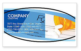 Medical Records In Data Base Business Card Template