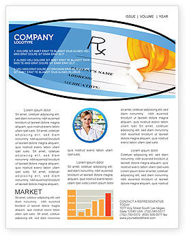 Medical Records In Data Base Newsletter Template, 06278, Medical — PoweredTemplate.com