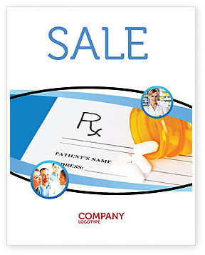 Medical: Medical Records In Data Base Sale Poster Template #06278