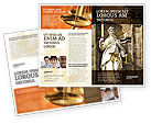 Legal: Modello Brochure - Lady giustizia #06281