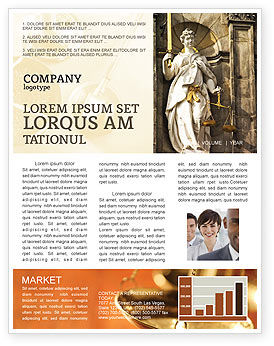 Legal: Lady Justice Newsletter Template #06281