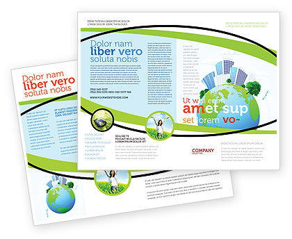 Green City Brochure Template, 06283, Nature & Environment — PoweredTemplate.com
