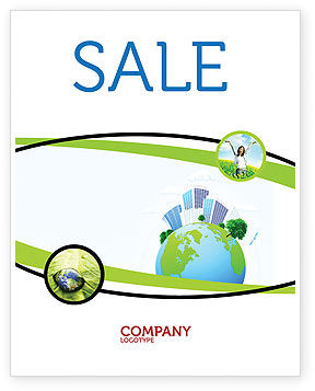 Nature & Environment: Green City Sale Poster Template #06283