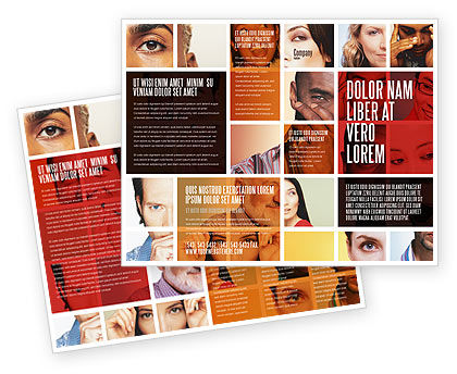 Human Emotions Brochure Template, 06290, People — PoweredTemplate.com