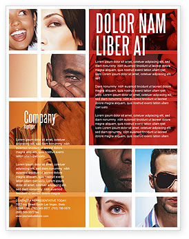 Human Emotions Flyer Template, 06290, People — PoweredTemplate.com
