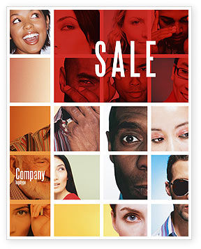 People: Human Emotions Sale Poster Template #06290