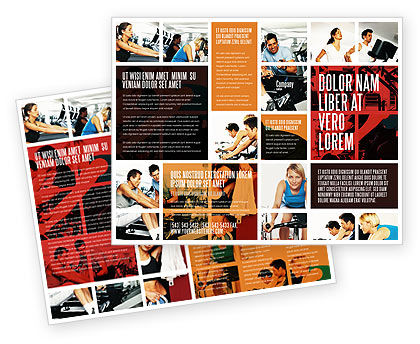 Sport gym brochure template design and layout download for Gym brochure template
