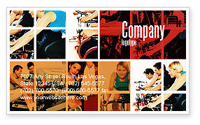 Sport Gym Business Card Template, 06294, Sports — PoweredTemplate.com