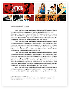 Sports: Sport Gym Letterhead Template #06294