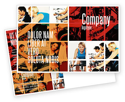 Sports: Sport Gym Postcard Template #06294