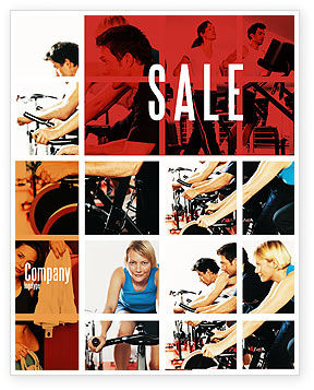 Sport Gym Sale Poster Template, 06294, Sports — PoweredTemplate.com