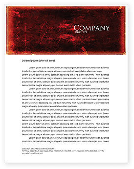 Red Grunge Letterhead Template, 06302, Abstract/Textures — PoweredTemplate.com