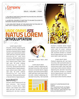 Financial/Accounting: Modello Newsletter - Aiuto in dollari #06305