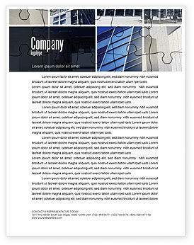 Consulting: Business Center Puzzle Letterhead Template #06308