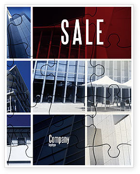Business Center Puzzle Sale Poster Template, 06308, Consulting — PoweredTemplate.com