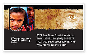 People: Children Around The World Business Card Template #06312