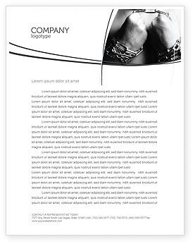 Chained Man Letterhead Template