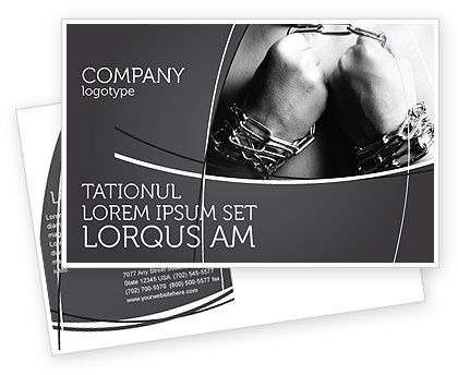 Chained Man Postcard Template, 06319, Consulting — PoweredTemplate.com