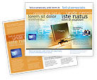 Technology, Science & Computers: Computer Media Brochure Template #06320