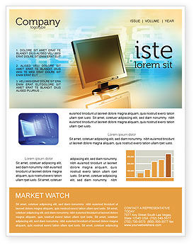 Computer Media Newsletter Template, 06320, Technology, Science & Computers — PoweredTemplate.com