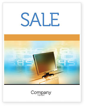Technology, Science & Computers: Computer Media Sale Poster Template #06320