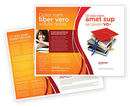 Higher education brochure template design and layout for Education brochure templates