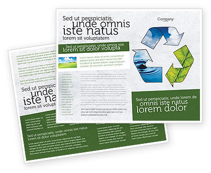 Recycle Brochure Template, 06325, Nature & Environment — PoweredTemplate.com