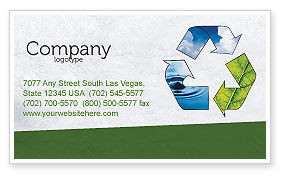 Nature & Environment: Recycle Business Card Template #06325