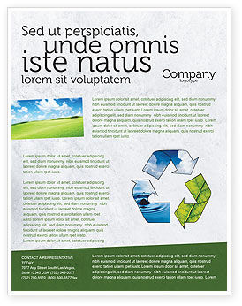 Nature & Environment: Recycle Flyer Template #06325