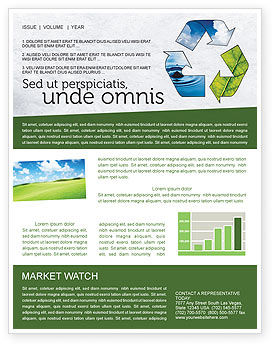 Nature & Environment: Recycle Newsletter Template #06325