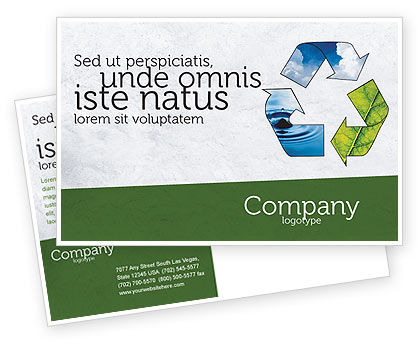 Nature & Environment: Recycle Postcard Template #06325