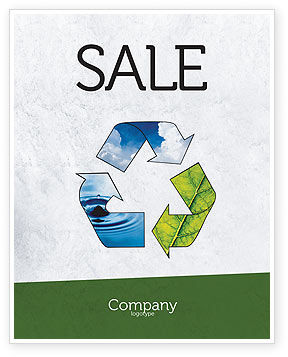 Nature & Environment: Recycle Sale Poster Template #06325