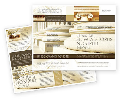 Construction: Doric Columns Brochure Template #06332
