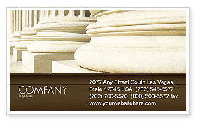 Construction: Doric Columns Business Card Template #06332