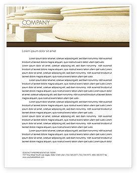 Doric Columns Letterhead Template, 06332, Construction — PoweredTemplate.com