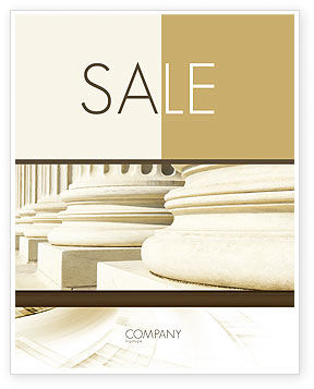 Construction: Doric Columns Sale Poster Template #06332