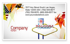 Careers/Industry: Welcoming Billboard Business Card Template #06333