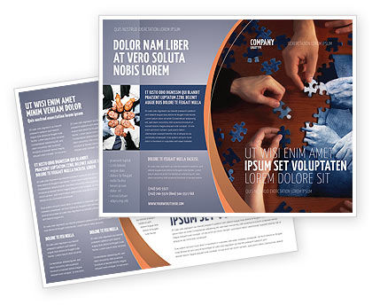 Business Concepts: Modello Brochure - Team building di puzzle #06348