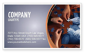 Business Concepts: Team Building Puzzle Business Card Template #06348