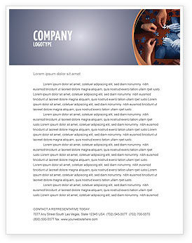 Business Concepts: Team Building Puzzle Letterhead Template #06348