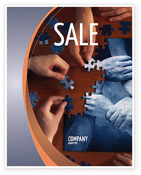Team Building Puzzle Sale Poster Template, 06348, Business Concepts — PoweredTemplate.com