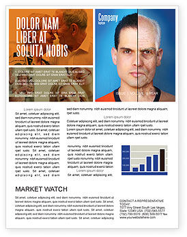 Ageing Newsletter Template, 06349, Medical — PoweredTemplate.com
