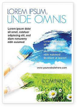 Nature & Environment: Painting Summer Ad Template #06354