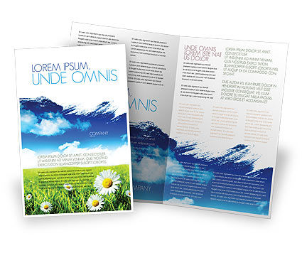 Nature & Environment: Painting Summer Brochure Template #06354