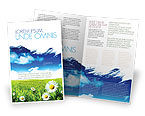 Nature & Environment: Schilderen Zomer Brochure Template #06354