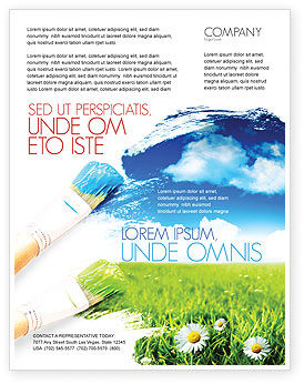 Nature & Environment: Templat Flyer Lukisan Musim Panas #06354
