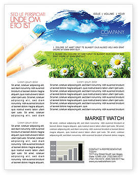 Nature & Environment: Painting Summer Newsletter Template #06354