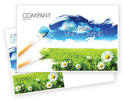 Painting Summer Postcard Template, 06354, Nature & Environment — PoweredTemplate.com