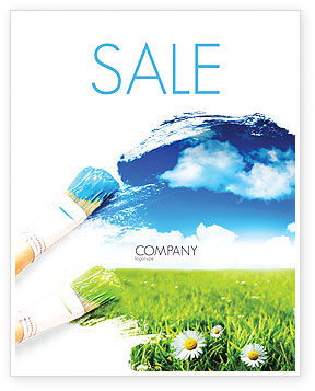 Painting Summer Sale Poster Template, 06354, Nature & Environment — PoweredTemplate.com