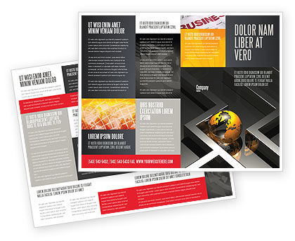 Consulting: Earth in Labyrinth Brochure Template #06357